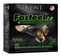 "Kent Fasteel Waterfowl 12 Ga, 3.5"" 1-1/4oz, 2 Shot, 25rd/Box"
