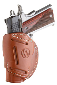 1791 4 Way Holster, Leather Belt Holster, Right Hand, Classic Brown, Fits Glock 48 & S&W EZ380, Size 1