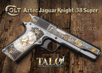 Colt Aztec Jaguar Knight Talo 1911, .38 Super, Royal Blue Gold Limited Edition