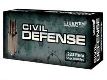 Liberty Ammo Silverado 223 Rem 55gr, LF Fragmenting BTHP, 20rd/Bx, 50 Box/Case