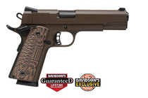 "Rock Island Armory 1911 A1 45 ACP 5"" Barrel, Patriot Brown Cerakote, G10 Desert Storm Grips 8rd Mag"