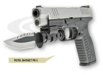 LaserLyte Pistol Bayonet, Serrated, Quick Detach Rail Mount