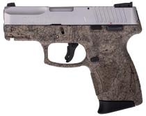 "Taurus G2c Splatter Edition Compact 9mm 3.25"" Barrel Flat Dark Earth Frame Black Splatter, SS Slide"