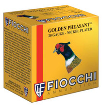 "Fiocchi Golden Pheasant Loads 20 Ga, 2.75"", 1245 FPS, 1oz, 7.5 Shot, 25rd/Box"