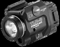 Streamlight TLR-8 White LED 500 Lumens 3V CR123A Lithium Battery Black Polymer