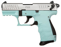 "Walther P22 QD .22 LR, 3.42"" Barrel, Adj. Sights, Angel Blue, 10rd"
