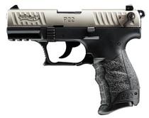"Walther P22 QD .22 LR, 3.42"" Barrel, Black/Nickel, 10rd"
