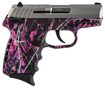 """SCCY CPX-1 Carbon 9mm, 3.1"""" Barrel, Mud Polymer Grip, Stainless Steel Slide, 10rd"""
