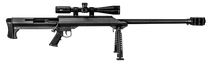 "Barrett M99 with Vortex Scope, 50 BMG, 32"" Barrel, Fixed Black Stock, Black Hardcoat Anodized, 1rd"