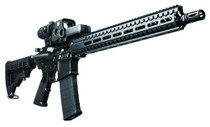 "CMMG Resolute 100 MK4 5.56mm 16.1"" Barrel, 6-Position Black Stock Black Hardcoat Anodized, 30rd"