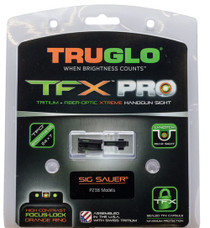 Truglo TFX Sight Set, #6 Front/#8 Rear, Sig P Series, .40 S&W, .45 ACP Firearms