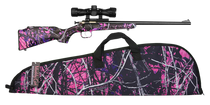 "Crickett Synthetic 22LR, 16.125"" Barrel, Synthetic Muddy Girl Stock, Blued"