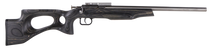 "Crickett Black Target 22LR, 16.125"" Barrel, Laminate Thumbhole Black Stock, Stainless Steel"