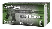 Remington Silencer Subsonic 45 ACP 230gr, FNEB, 50rd/Box