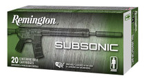 Remington Silencer Subsonic 9mm 147gr, Flat Nose Encl Base, 50rd/Box
