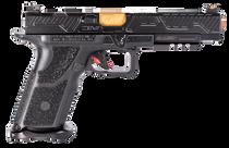 """Zev Technologies O.Z-9 Competition 9mm, Single, 5.75"""" Barrel, Black Grip, Black DLC Slide, 17rd"""