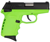 """SCCY CPX-1 Carbon 9mm, 3.1"""" Barrel, Lime Grip, Black Stainless Steel Slide, 10rd"""
