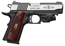 "Browning 1911 Black Label Crimson Trace Laser 380 ACP, 3-Dot Sight, 3 5/8"" Barrel"