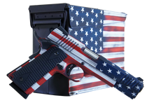 "Citadel M-1911 with Ammo Can 45 ACP, 5"" Barrel, Black G10 Grip American Flag, Cerakote Slide, 8rd"