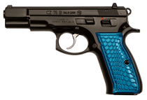 CZ 75B 9mm, Blue Anodized Wicked Grips, 16rd