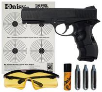 Daisy PowerLine Air Pistol Kit .177 Pellet/BB Black CO2