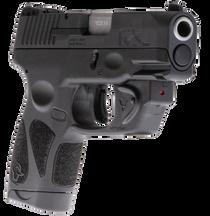 """Taurus G2S Viridian Laser 9mm, 3.25"""" Barrel, Black Grip and Frame, Black Carbon Steel Slide, 7rd"""