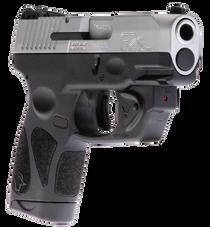 "Taurus G2S Viridian Laser 9mm, 3.25"" Barrel, Black Grip and Frame, Stainless Steel Slide, 7rd"