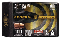 Federal Bullets .357 158gr, JHP, 100rd