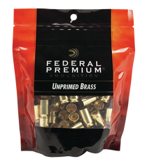 Federal Gold Medal Bagged Brass Unprimed 9mm, 100/Bag