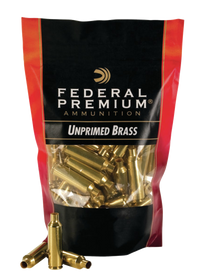Federal Gold Medal Bagged Brass Unprimed 22-250, 100/Bag