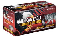 Federal American Eagle 22-250 Rem 50gr, JHP, 50rd/Box