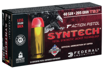 Federal American Eagle Syntech 40 S&W 205gr, Total Synthetic Jacket, 50rd/Box