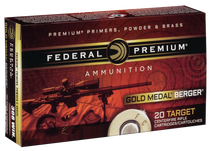 Federal Gold Medal 6.5 Grendel 130gr, Boat Tail Hollow Point, 20rd/Box