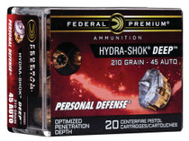 Federal Hydra-Shok Deep 45 ACP 210gr, HS Deep, 20rd/Box