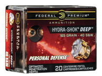Federal Personal Defense 40S&W 165gr, HS Deep, 20rd Box