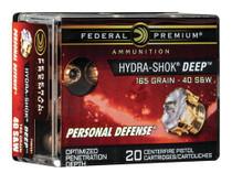 Federal Personal Defense 40S&W 165gr, HS Deep, 20rd Box
