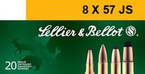 Sellier & Bellot 8mm Mauser JS SPCE 196 gr, 20rd/Box, 20 Box/Case