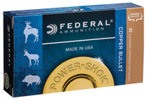 Federal Power-Shok 300 Win Mag 180gr, Copper Hollow Point, 20rd/Box