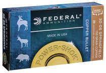 Federal Power-Shok 308 Win/7.62mm 150gr, Copper, 20rd/Box