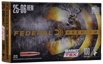Federal Premium 25-06 Rem 100gr, Barnes Triple-Shock X, 20rd/Box