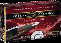 Federal Premium 25-06 Rem 110gr, Nosler AccuBond, 20rd Box