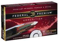 Federal Premium 270 Win 140gr, Nosler AccuBond, 20rd Box