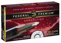 Federal Premium 270 Win 140gr, Nosler AccuBond, 20rd Box