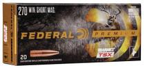 Federal Premium 270 WSM 130gr, Barnes Triple-Shock X, 20rd Box