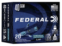 Federal Syntech Defense 40 S&W 175gr, Segmented Jacketed Hollow Point (SJHP), 20rd/Box