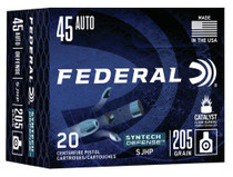 Federal Syntech Defense 45 ACP 205gr, Segmented Jacketed Hollow Point (SJHP), 20rd/Box