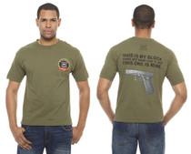 Glock My Glock T-Shirt Large Short Sleeve Olive Drab Cotton