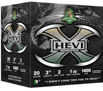 "HEVI-Shot Hevi-X Waterfowl 20 Ga, 3"", 1oz, 2 Shot, 25rd/Box"