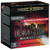 "Federal Black Cloud FS Steel 12 Ga, 3"", 1 1/4 oz, 1 Shot, 25rd/Box"