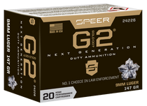 Speer Gold Dot G2, 9mm, 147Gr, Gold Dot Hollow Point, 20rd Box
